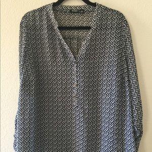 a.n.a by Target semi-sheer long sleeved shirt 1X